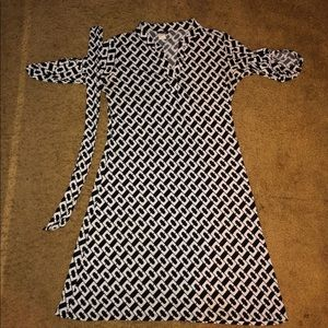 Black White Link Dress Work Business Casual XLarge